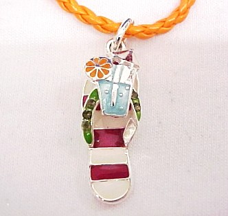Beach Flip Flop Necklace-Beach Flip Flop Necklace