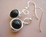 Earrings-Black Onyx Nest-black, onyx, earrings, cool earrings, fun funky earrings