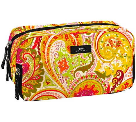 Bungalow Scout 3 Way Bag BoHo Rhapsody-bungalow scout, travel bag, cosmetic travel bag, cosmetic, boho rhapsody, paisley, water resistant, zipper compartment