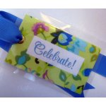 """Celebrate"" Bag Tag-tag, bag tag, package tag, gift tag, luggage tag"