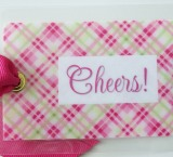 Cheers Bag Tag-tag, bag tag, luggage tag, gift tag, package, wine bottle