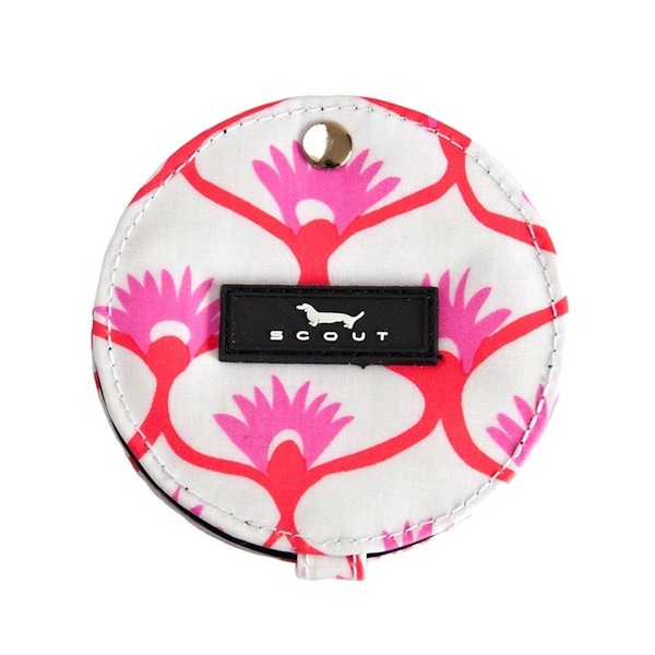 Compact Mirror in Fanning Tatum-bungalow scout compact mirror, compact mirror, travel mirror, pink and orange, fanning tatum, bridal party gift, chic gift, girlfriend thank you gift,