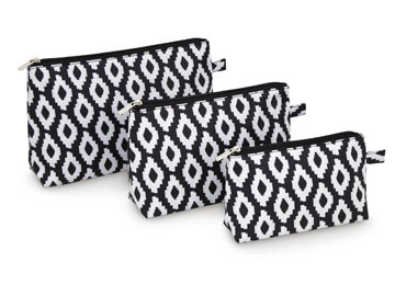 Cosmetic Bag Set in Uptown Charm-all for color, cosmetic bag set, travel, golf, uptown charm, golf balls, accessories, gift, cosmetics, makeup bag,