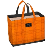 Bungalow Scout  Mad Plaider DEANO Tote-bungalow scout, scout, deano, tote, orange, plaid, mad plaider,fall colors, gift, cool gift,travel bag
