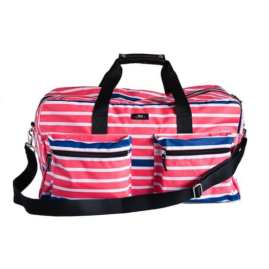"""Duffy"" Travel Duffle Bag-Bungalow Scout Duffy bag, travel bag, duffle bag, Duffy, Blue Line Rouge, zipper, pockets, gift, girls, wedding and shower gifts"