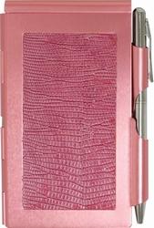Flip Notes Safari Pink-Wellspring, flip note, note pads, blue, green, pink, safari, black croc, office, school, supplies, gift, boutique gift, snap retail items