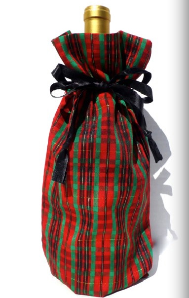 Celtic Cloth Wine Bag-cloth wine bags, eco friendly, gratitude gift bags, christmas, xmas, celtic, gift
