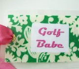 Golf Babe Bag Tag-golf tag, bag tag, golf babe, golf gift, luggage tag, golf bag tag, fun golf tag