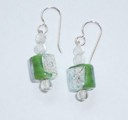 Green Inlay Drop Earrings-Green Inlay Drop Earrings