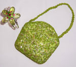 Green Mini Sequinned Beaded Purse-Mini Sequinned Beaded Purse