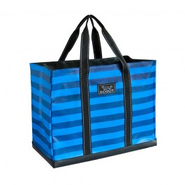 Bungalow Scout 4 Boys Bag in Blue Crew-bungalow scout, 4 boys bag, four boys bag, blue crew, travel zipper, blue stripes, beach bag