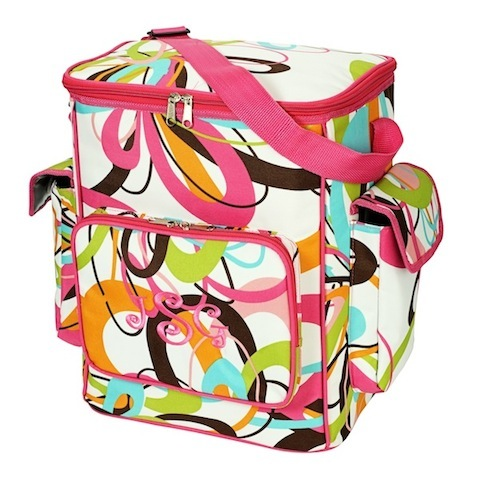 Tutti Frutti Cooler Bag-tutti fruitti cooler bag, cooler, insulated, beach, tote, lunch bag, gift, diaper bag, baby bag, baby cooler, baby tote