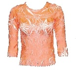 Origami Three/Quarter Sleeve Tangerine-