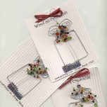 "Package Toppers""Wired"" Ornaments-Wired,Package, Ornament, Christmas Tree, Angel, topper, tree,"