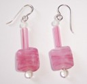 Pink Bead Earrings-Pink Bead Earrings