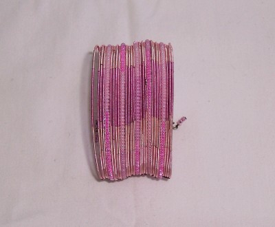 "Pink Beaded ""Wire"" Bracelet-Pink Beaded"