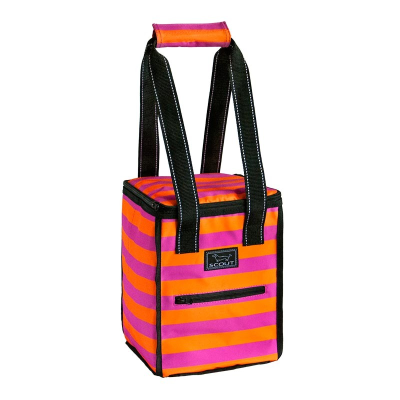 Bungalow Scout Pleasure Chest in Croquetti-bungalow scout, cooler, magenta, tangerine, purple, fuscia, picnic, pleasure chest, stripes, gift, croquetti, tailgating, golf, tennis, sports, best seller