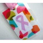 Pink Ribbon Survivor Bag Tag-pink ribbon, survivor, bag tag,tag, pink, ribbon