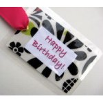 Happy Birthday Bag Tag-bag tag, luggage tag, package tag, wine bottle tag, gift tag, happy birthday tag