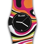 Slap Watch Swirl Jr.-watch, slap, slapwatch, orange swirl, orange, jewelry, gift, jewelry, accessory