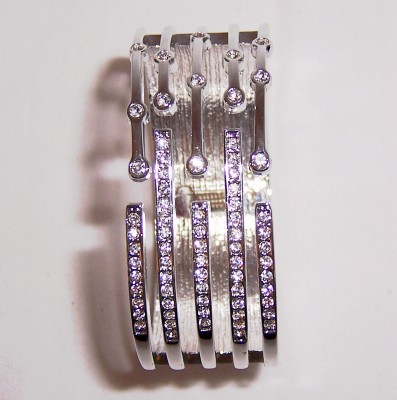 Rhinestone Silver Bracelet-Rhinestone Silver Bracelet