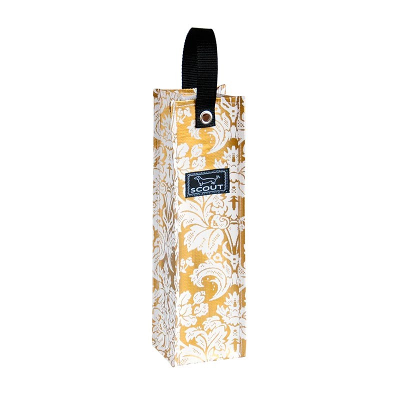 Bungalow Scout Spirit Liftah Gold Midas-Bungalow scout wine tote, spirit liftah, beverage tote, gold midas well, holiday tote, xmas, christmas, gift bag, gold