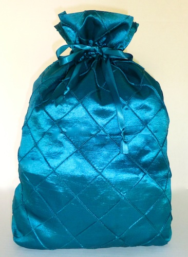 Blue Teal Diamond Gift Bag-blue teal, gift bag, gratitude gift bags, hostess gift, xmas, Christmas gift,reusable bag, eco friendly, cloth bag