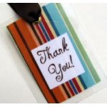 Thank You Bag Tag-tag, bag tag, luggage, luggage tag, gift tag, package adornment, thank you, wedding, bride tag