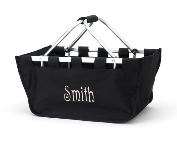 Market Tote  Black Plain-tote, market tote, sscout, scout bag, scout tote, monogram, gift, chic bag, bag