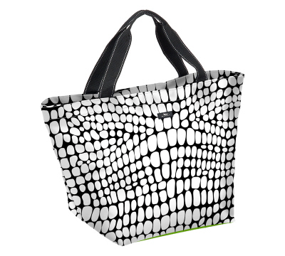 Black and White Croc-O-Gator Weekender-Bungalow scout, scout, scout bags, croc-o-gator, black and white, tote, travel bags