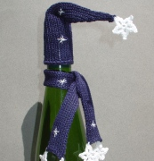 Winter Wonderland  Bottle Toppers-holiday, wine, bottle toppers, toppers, wine toppers, christmas, hand knit