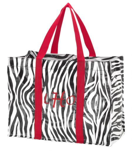 Monogrammed Shopping Tote-Shopping Tote, Tote, monogrammed, zebra, market tote, gift