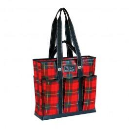 Bungalow Scout Pocket Rocket Red Tartan-Bungalow scout, red tartan, plaid, pocket rocket, travel, gift, chic, bag, tote